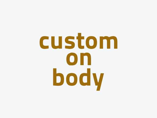 CUSTOM ON BODY